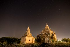 Night in Bagan (Kathy~) Tags: bagan night temple religion two friendlychallenges