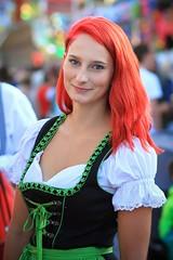 Stranger #062/100 - Katharina [Kandidat 2] (reinh_3008) Tags: 100strangers katharina dult landshut redhead young beautiful dirndl black green girl woman bavaria