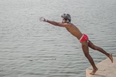 Varanasi | 2017. (Vijayaraj PS) Tags: nikon varanasi kasi india heritage hindu hinduism ganga ganges water river incredibleindia light outdoor ghats asia travel boat bird people white background 2017