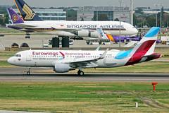 D-AEWM 2 Airbus A320-214S Eurowings (Boomerang Club) LHR 08SEP18 (Ken Fielding) Tags: daewm airbus a320214 eurowings boomerangclub aircraft airplane airliner jet jetliner
