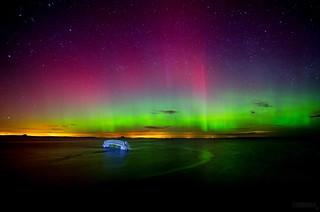 Aurora over Dunbar - Scotland