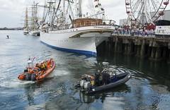 RNLI & PSNI patrol belfast lough (teedee.) Tags: rnli psni patrol belfast lough tall ships sea harbour funfair