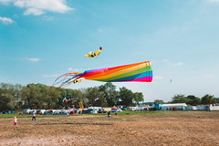 Kite Festival - Drachenfest Lemwerder (LucasRebmannPhotography) Tags: kite drachen drachenfest lemwerder deutschland germany sky blue himmel blau xf23mmf14 23mm 14 1855mm dragon alien bird flying monster grass seaside wasser weser river field clouds wolken teddy mario fujifilm xt20 xt 20 2018 über people