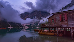 Wolken über dem See (19MilkyWay89) Tags: landscape lake mountains clouds sky evening dark italy blue hour