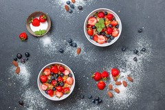 Berries blueberries bowls - Credit to https://homegets.com/ (davidstewartgets) Tags: berries blueberries bowls confection dessert food photography fresh fruits healthy nuts strawberries sugar top view vitamins
