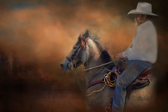 Cowboy.... (Patlees) Tags: cowboy horse textured dt kathyrussell thanks