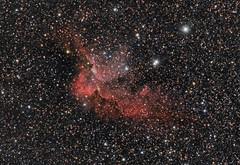NGC7380 Wizard Nebula (Waskogm) Tags: universe univerzum svemir space cosmos kosmos nature dark night teleskop telescope maksutov skywatcher observatory amateur astronomy astronomija aristarh aristarchus waskogm wasko vasilije ristovic nostromo nebula nebulosity maglina maglica hydrogen ha ngc7380 wizard
