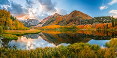 Panorama! North Lake Bishop Creek High Sierras Autumn Aspens Leaves Clouds Fine Art Landscape Photography: Sony A7RII Eastern Sierras Aspen Nature: California Fall Foliage Autumn Colors Scenic Vista View! Carl Zeiss Sony 16-35mm F4 8K Red Orange Leaves (45SURF Hero's Odyssey Mythology Landscapes & Godde) Tags: high res multishot panorama north lake bishop creek sierras autumn aspens leaves clouds fine art landscape photography sony a7rii eastern aspen nature mcgucken california fall foliage colors scenic vista view carl zeiss t fe 1635mm f4 za oss red orange