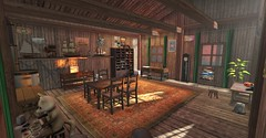 Texturing Project #2 / Old wooden house - Furnishing (cuuka) Tags: second life secondlife sl cuuka kushino red sun redsun build building house wood wooden old furnish furnished furnishing picture light shadow effect render texture texturing project home forest wild blackwood