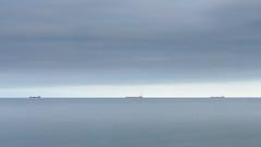 Outside Falmouth Docks (s.pither) Tags: longexposure sea seascape ship minimalism
