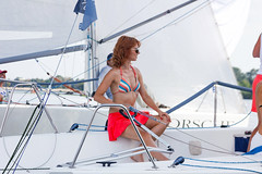 KRYC CUP 2014-4340 (amprophoto) Tags: sail sailing sailingyacht sailboat yachtrace regatta water wind white blue beneteau platu25 peoples sky sport spinnaker fun smile