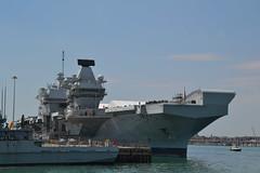 HMS Queen Elizabeth (Gerry Rudman) Tags: hms queen elizabeth portsmouth naval base tyne river patrol vessel p281 r08