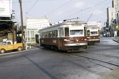 US PA Philadelphia SEPTA-PSTC Red Arrow 83-85 10-1973 69th St (David Pirmann) Tags: pa pennsylvania philadelphia septa redarrow pstc philadelphiasuburbantransco interurban train trolley tram transit railroad