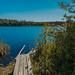Footbridge And Lake