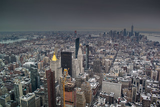 From the Empire State on a grey day