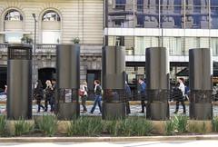 A través de (carlos_ar2000) Tags: tubo tube calle street gente people caño pipe through buenosaires argentina