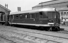 CP My53 série 0050, Barreiro, Portugal, 1964 (filhodaCP) Tags: comboiosdeportugal cp comboio automotora railcar nohab ferroviário museuferroviário linhadosul ferrocarriles portugal