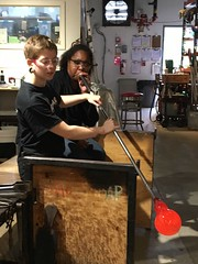 Kebra blowing glass (olive witch) Tags: 2018 abeerhoque asburypark aug18 august day fem indoors newjersey nj pair store