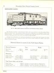 Metropolitan Vickers Catalogue 1938/9 - Page 18 (HISTORICAL RAILWAY IMAGES) Tags: metropolitan vickers catalogue locomotives railway lner