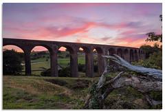 Hewenden Viaduct (.Wadders) Tags: hewendenviaduct hewenden viaduct sunset yorkshire bradford d600 2018 nikkor1635mmf4 sky