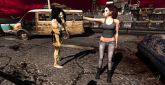 Come get it (Just1sarah) Tags: secondlife zombie photography pose halloween apocalypse walking dead danu