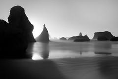where the day takes me? (Lamson/Ng) Tags: oregon bandon beach ocean blackandwhite monochrome bw le lamson light shadow sea highkey