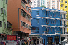 Painted House (syf22) Tags: journey bus street people houses highrise buildings accommodation cars automobile road central pedestrian walkers taxi view urban skyline skyward multistory cityarchitecture cityskyline cityscape city architecture modernarchitecture modern high tall citycentre living house dense highdensity earthasia