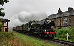 Flying Scotsman (Mister Oy) Tags: flyingscotsman train steam loco locomotive rain heritage elr eastlancsrailway townsendfold signalbox lancashire visitlancashire a3 60103