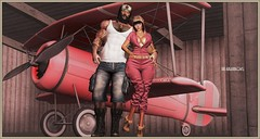 Matilda (Moxxie Kalinakova) Tags: married love vintage retro plane pilot kalinakov kalinakova pink