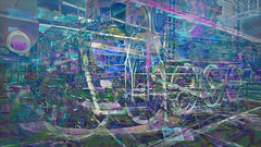 BaikalReise 75c (wos---art) Tags: bildschichtung russland transsibirische eisenbahn historisch ausgemustert stillgelegt schrottplatz ausgestellt präsentiert maschinengeschichte