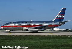 Metrojet B737-201/Advanced N260AU (planepixbyrob) Tags: metrojet usair boeing 737 737200 n260au fll fortlauderdale kodachrome retro