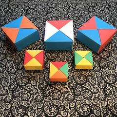 ORIGAMI BOXES (14) (JOHN MORGANs OLD PHOTOS.) Tags: made by john morgan 160 gsm card for my ribbon brooches origami boxes box
