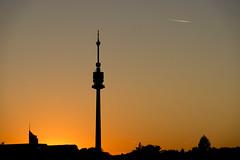 Danube Tower (CoolMcFlash) Tags: sunset sundown sun light silhouette architecture cityscape danubetower tower twilight vienna fujifilm xt2 sonnenlicht sonnenuntergang orange red rot dusk abend licht kontur architektur donauturm turm wien fotografie photography sky himmel xf18135mmf3556r lm ois wr