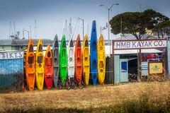 Kayaks (CDay DaytimeStudios w/1,000,000 views) Tags: beach bicycle boats ca california clouds coastline halfmoonbayca highway1 kayaks morningovercast ocean pacificcoast pacificcoasthighway pillarpoint pillarpointharbor water wharf yachts