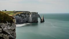 Etretat on a beautiful Indian summer's day (Patrick LEMAIRE) Tags: etretat normandie france coastline rock sea