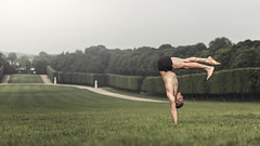 (dimitryroulland) Tags: nikon d600 85mm 18 dimitryroulland performer art artist circus handstand balance seven 7 natural light sceaux paris france green flexible people pointe