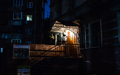 Night. (Oleg.A) Tags: shadow colorful autumn russia architecture street night city style outdoor cityscape yellow orange nizhnynovgorod outdoors town nizhnynovgorodoblast ru