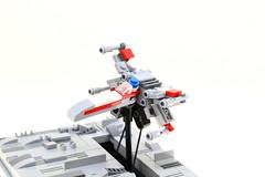 LEGO STAR WARS X-Wing Kinetic Sculpture (Mini-Model) (Josh DaVid LEGO Creations) Tags: lego starwars mini mechanical moc electronics robotics kinetic technic falcon xwing