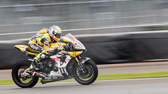 Yellow Yamaha (kimbenson45) Tags: 11 anvilhiretagyamaha anvilltd bennettsbritishsuperbikes jamesellison silverstone wellingtonstraight yamaha action colorful colourful competition competitor motion movement pan panning race racing rider sport white yellow