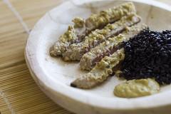 Tuna in a almonds and pine nuts with mustard (Luca Nebuloni) Tags: tonno tuna cibo food mangiaconme senape mandorle mustard almonds