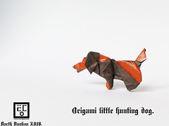 Origami little hunting dog - Barth Dunkan (Magic Fingaz) Tags: anjing barthdunkan chien chó dog hond hund köpek origami paperfolding perro pies пас пес собака หมา 개 犬 狗