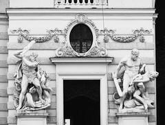 The protectors (jimsawthat) Tags: statues blackandwhite architecture architecturaldetails imperialpalace urban austria vienna