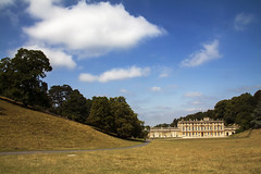 Dyrham Park (Christian Hacker) Tags: dyrhampark baroque house mansion estate nationaltrust architecture meadow path sunny whiteclouds puffy trees gloucestershire canon eos50d tamron 1750mm landscape uk summer explore inexplore explored