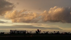 Elements and Exercise (houseplantkiller) Tags: beach sunset clouds silhouttes