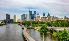 Schuylkill River & Philadelphia Skyline (Eridony (Instagram: eridony_prime)) Tags: philadelphia philadelphiacounty pennsylvania centercity river water skyline