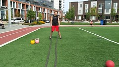 Battling Ropes Waves (personaltrainertoronto) Tags: boot camp workout exercise training trainer fitness fit athlete model hiit intense intensity cardio track sport muscle strength fat loss bodybuilding male young sports battling ropes undulation