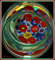 Glass bouquet (bruixazul poc a poc...) Tags: tapon perfumero cristal murano bouquet glass agua macromondays multicolor
