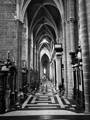 Religion (davidepremoselli) Tags: church gothic high tunnel blackandwhite blackwhite bw perspective religion hope architecture edificio navata architettura