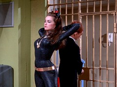 """Julie Newmar as Catwoman in """"Catwoman Goes to College"""" 16 (gameraboy) Tags: catwoman batman comics julienewmar cheesecake sexy woman"""