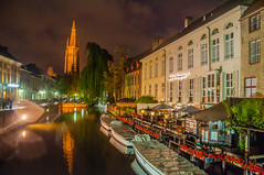 Put the Canal to Sleep (Tony Shertila) Tags: belfortvanbrugge belfryofbruges bruges brugge dijver marketsquare architecture belfort bluehour bridge brussels building canal city cityscape europe night tower water vlaanderen belgium bel 20170830213316belgiumbruggelr
